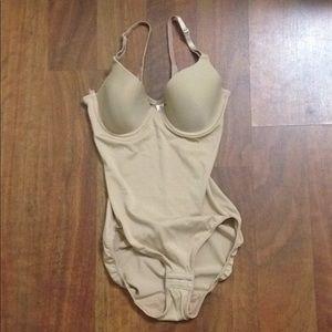 Soma Bodysuit Bra Size 36A. Color Tan.